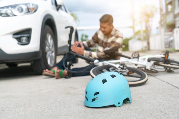 accidente bicicleta y coche
